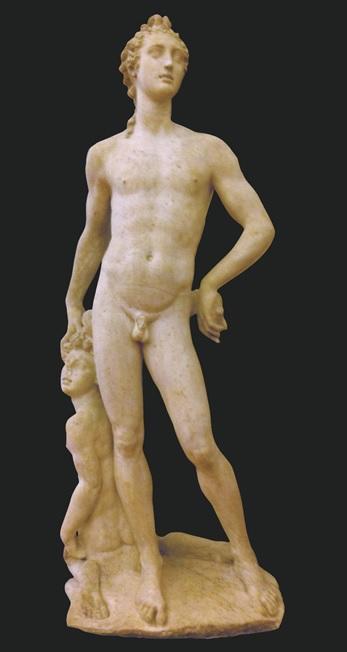 Benvenuto Cellini, Apollo and Hyacinth (1545–48). Marble, Museo Nazionale del Bargello, Florence.