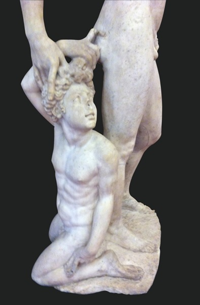 Hyacinth kneeling, detail of Apollo and Hyacinth