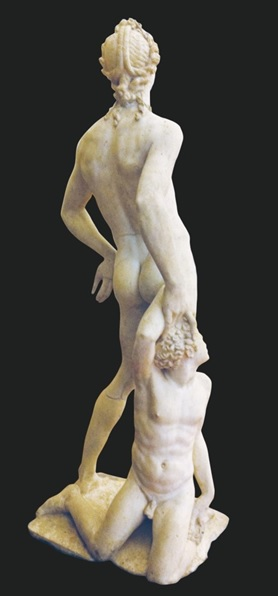 Apollo and Hyacinth (Rear view). Marble,  Museo Nazionale del Bargello, Florence.