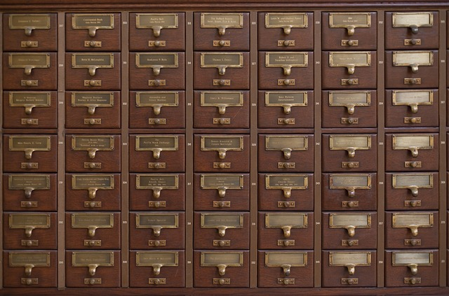 Card catalog index