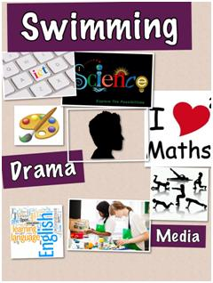 Poster of school subjects