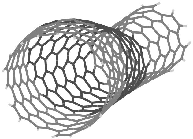 3D illustration of nano material