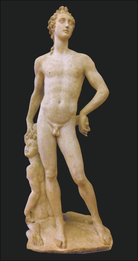 Classical male statue