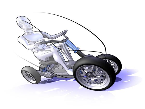 Illustration of tilting vehicle