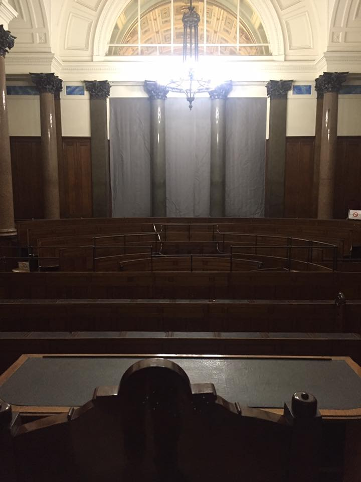 Interior of law court