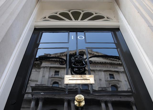 Door of number 10 Downing Street