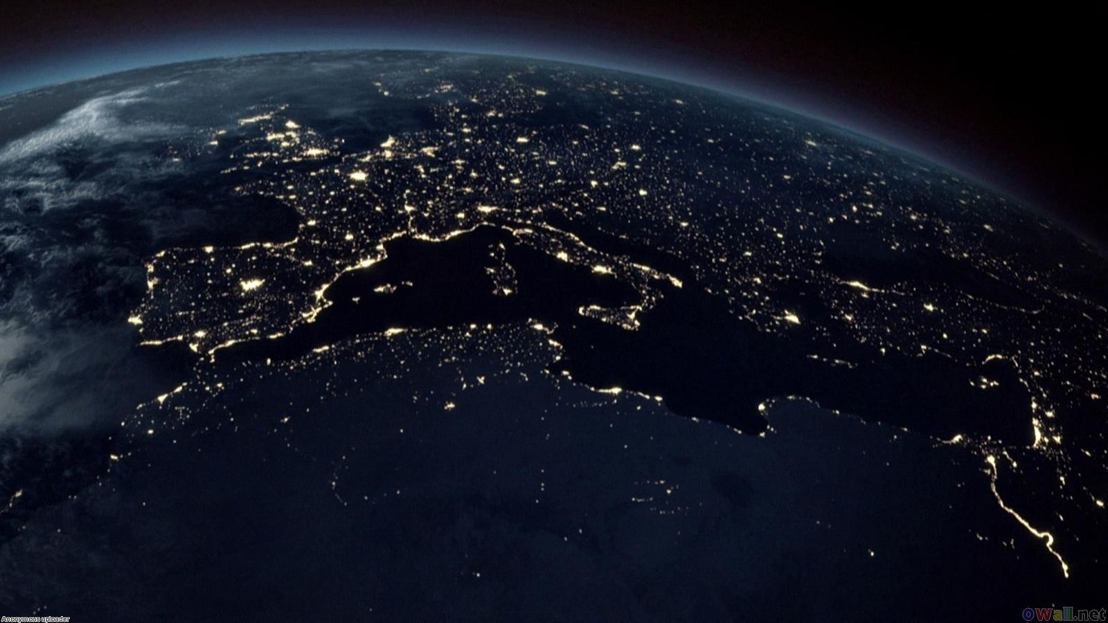 Satellite view of the world at night
