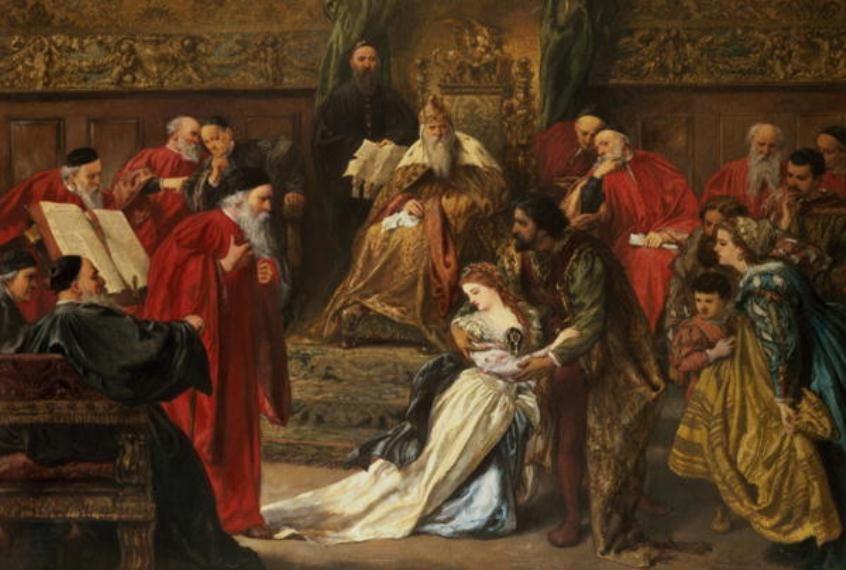 Painting of King Lear and Cordelia